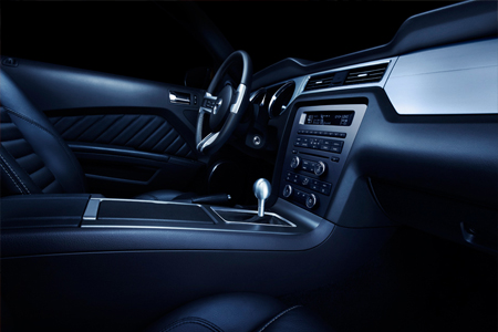 2010 Ford Mustang interior teaser shot