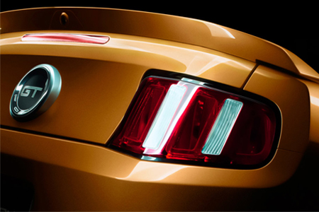 2010 Mustang taillight teaser