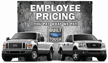 Ford employee pricing promotion poster