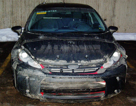 2010 Ford Fiesta US sedan spy shots