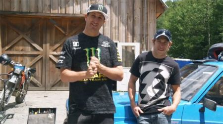 Ken Block (left) w/ Chris Atkinson (right)